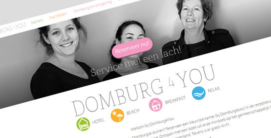 Website Hotel domburg